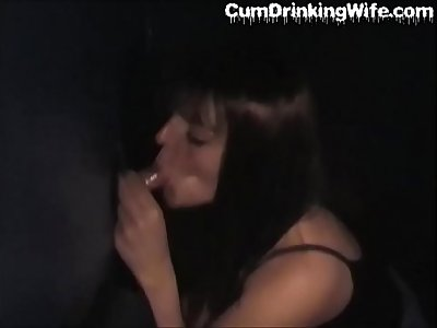 CumDrinkingWife - Slutwife Gangbanged at the Adult Theater - Continue To Watch At CuckoldPlayGround.com