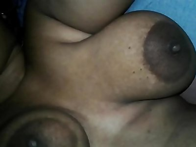 Indian playing his desi wife huge milky boobs